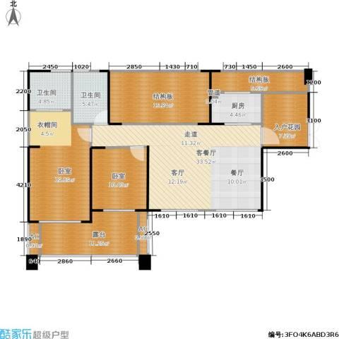 长城半岛城邦1厅2卫1厨146.00㎡户型图
