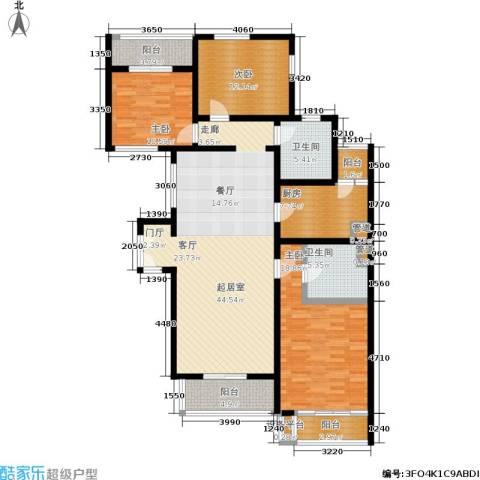 万科青青家园3室0厅2卫1厨139.00㎡户型图