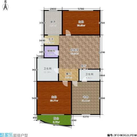 今日嘉园3室0厅2卫1厨154.00㎡户型图