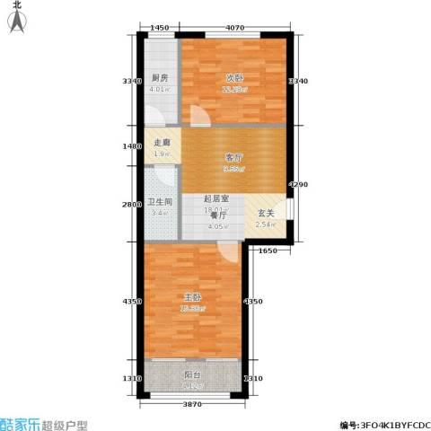 农光里小区2室0厅1卫1厨64.00㎡户型图