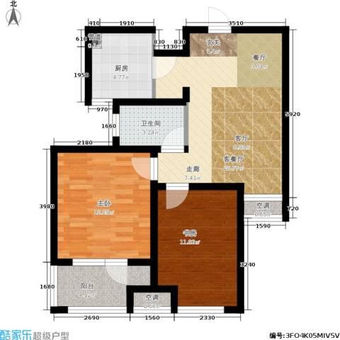荣盛・白鹭岛2室1厅1卫1厨69.00㎡户型图
