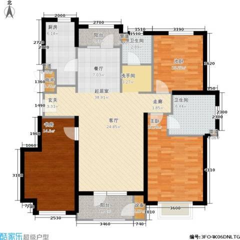 蓝湖郡3室0厅2卫1厨120.00㎡户型图