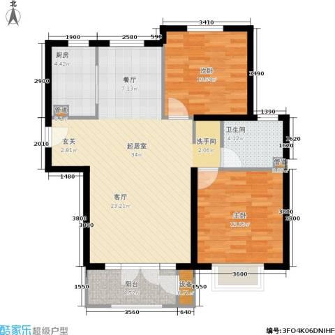 蓝湖郡2室0厅1卫1厨102.00㎡户型图