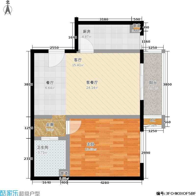 中信城二期73.38㎡C3-3面积7338m户型