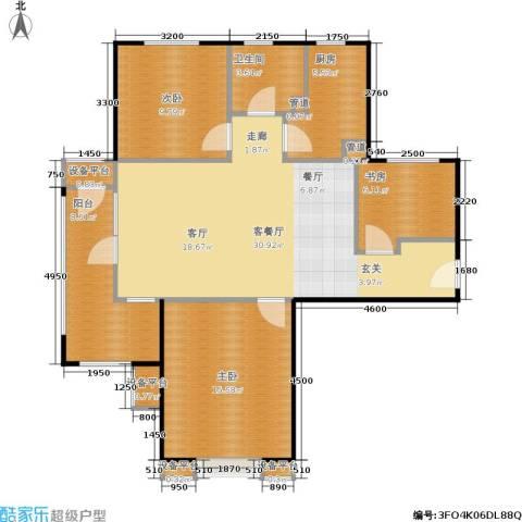 中铁·秦皇半岛3室1厅1卫1厨104.00㎡户型图