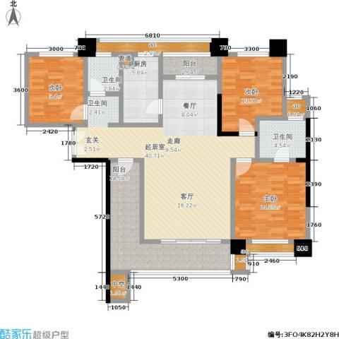 香颂国际3室0厅2卫1厨165.00㎡户型图