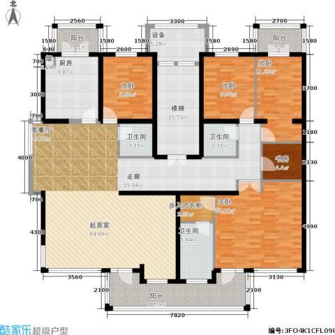 中房水木兰亭5室0厅3卫1厨207.00㎡户型图