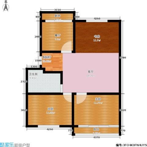 景芳二区2室2厅1卫1厨85.00㎡户型图