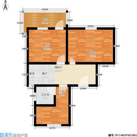 景芳二区3室1厅1卫0厨61.00㎡户型图