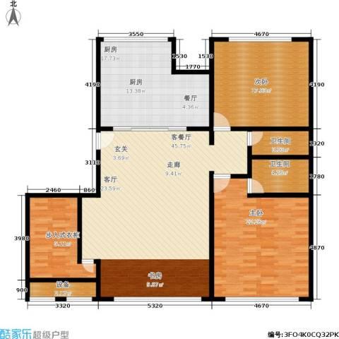 米兰公寓2室1厅2卫1厨135.00㎡户型图