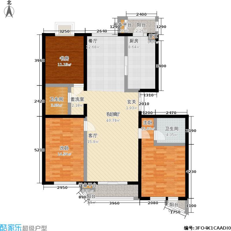 世纪东方城141.35㎡7号楼A(3居)面积14135m户型