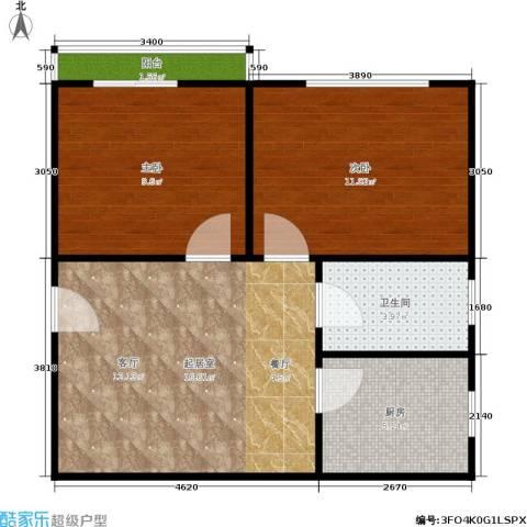 今日嘉园2室0厅1卫1厨52.00㎡户型图