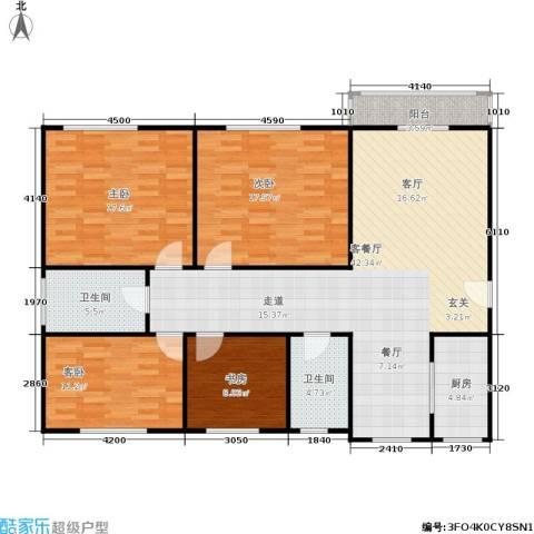 丹桂公寓4室1厅2卫1厨124.00㎡户型图