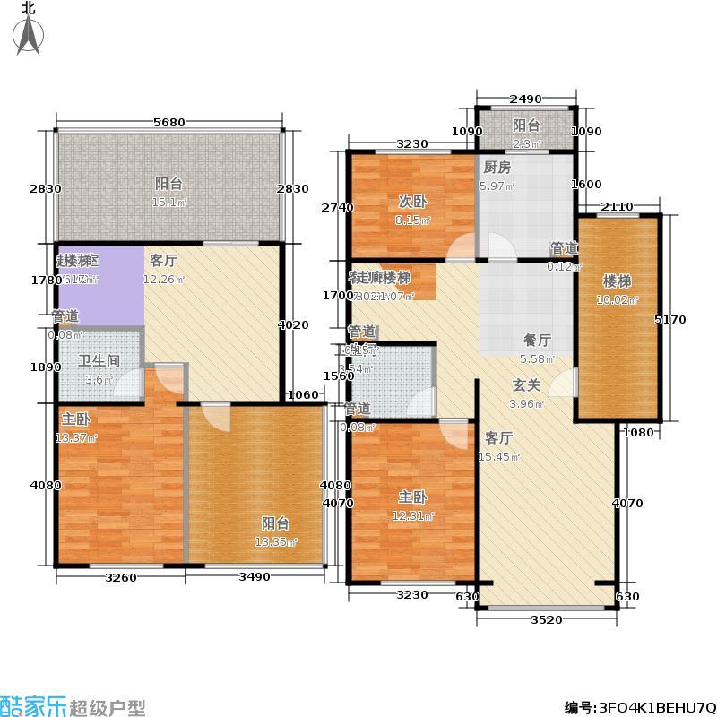 蓝调沙龙雅园148.52㎡D跃33面积14852m户型