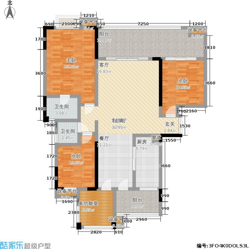 河畔新世界162.00㎡12栋标准层18・J户型