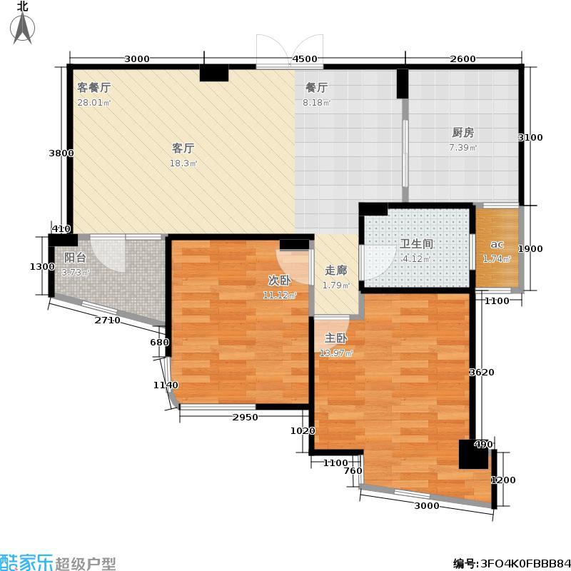 绿城养生堂千岛湖玫瑰园91.93㎡高层公寓G户型