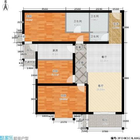 乐城3室1厅3卫1厨139.00㎡户型图