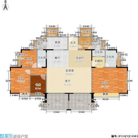 东海花园4室0厅3卫1厨188.00㎡户型图