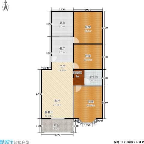 碧波园温泉家园1厅1卫1厨115.00㎡户型图