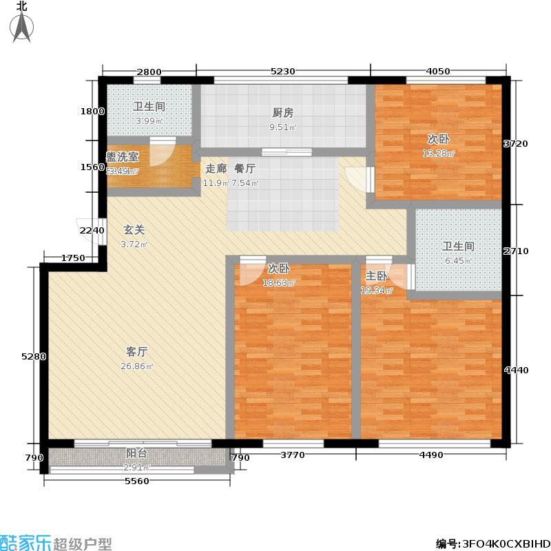 东鑫方汇花苑145.00㎡面积14500m户型