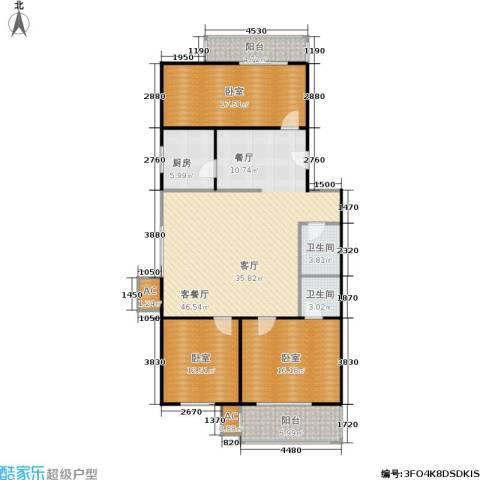 沁馥家园1厅2卫1厨128.00㎡户型图