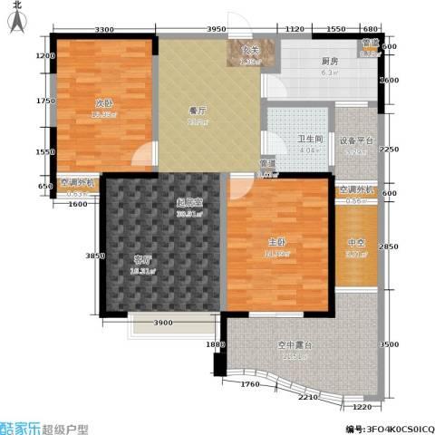 湖滨花园2室0厅1卫1厨97.00㎡户型图