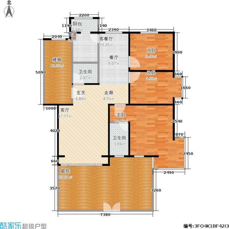 蓝调沙龙雅园130.21㎡A06楼111号面积13021m户型
