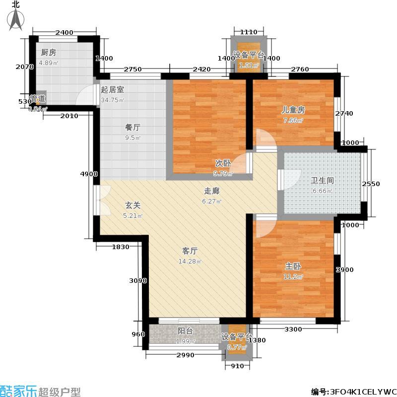 北京城建徜徉集110.00㎡B面积11000m户型