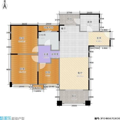 领馆国际城1卫1厨105.00㎡户型图