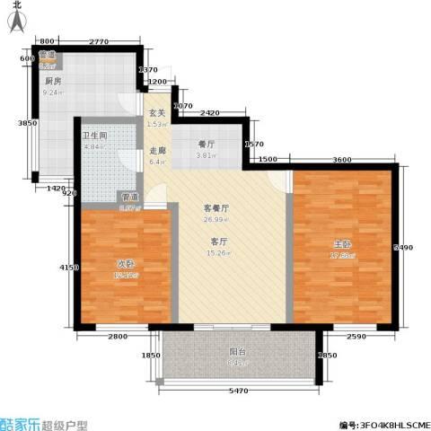 东风家园2室1厅1卫1厨91.00㎡户型图