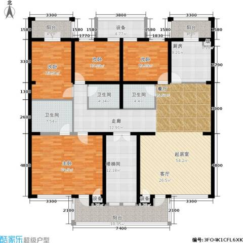 中房水木兰亭4室0厅3卫1厨197.00㎡户型图