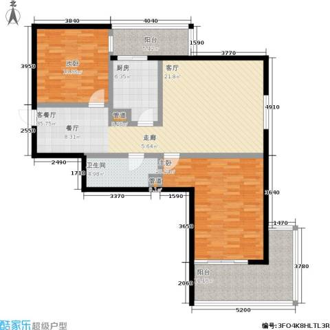 东风家园2室1厅1卫1厨105.00㎡户型图