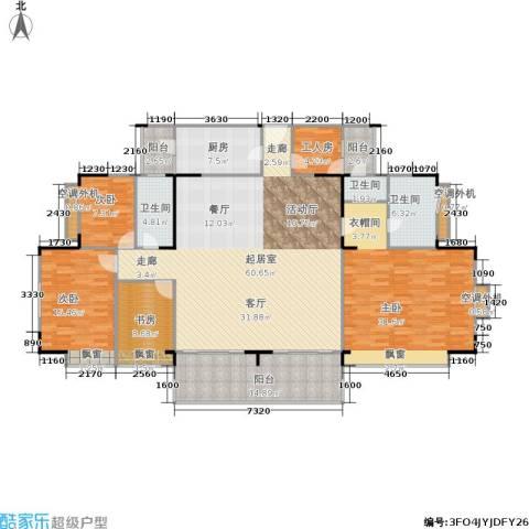 东海花园4室0厅3卫1厨183.00㎡户型图