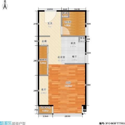 泰悦豪庭1卫0厨45.00㎡户型图