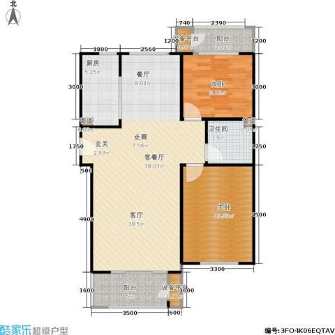 三田雍泓·青海城2室1厅1卫1厨104.00㎡户型图