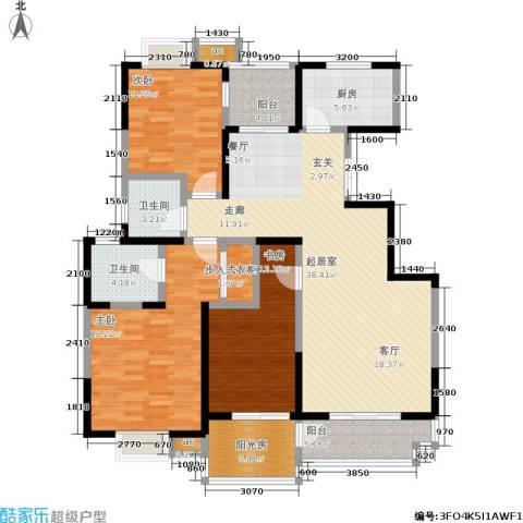 天朗西子湖3室0厅2卫1厨160.00㎡户型图
