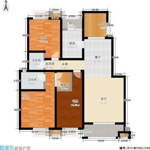 天朗西子湖3室0厅2卫1厨141.00㎡户型图