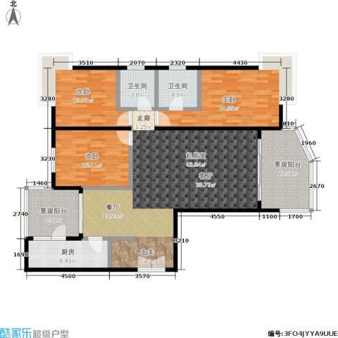 春天花园3室0厅2卫1厨130.00㎡户型图
