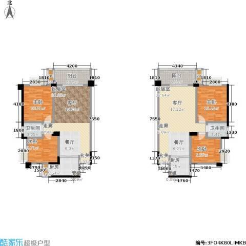 中江国际花城4室0厅2卫2厨140.83㎡户型图