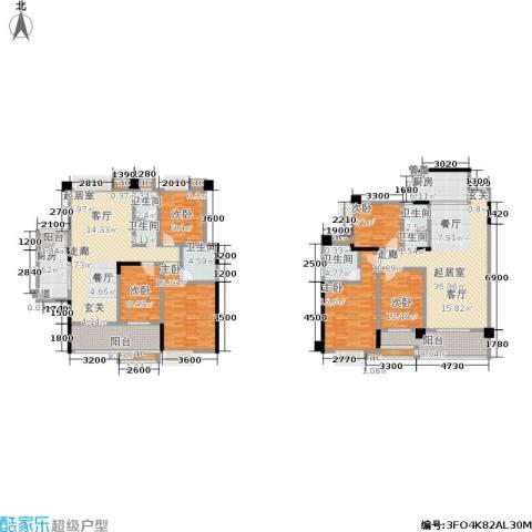 中江国际花城6室0厅4卫2厨191.78㎡户型图