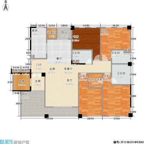 紫园4室1厅3卫1厨137.00㎡户型图