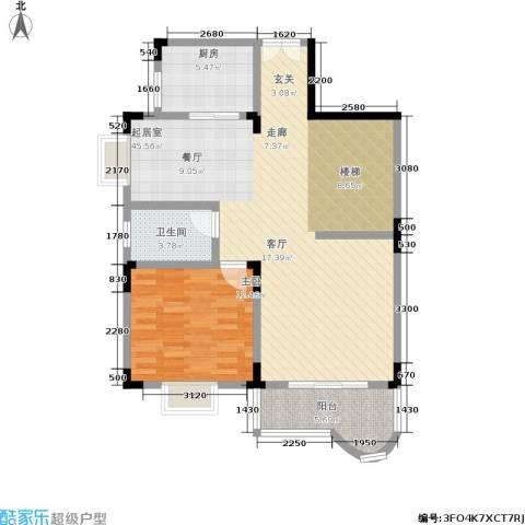 书香名邸1室0厅1卫1厨253.00㎡户型图