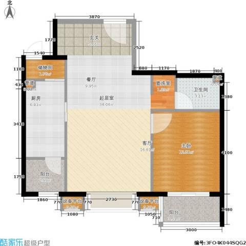 加州水郡西区1室0厅1卫1厨66.34㎡户型图