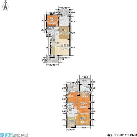 中房水木兰亭3室0厅3卫1厨169.00㎡户型图