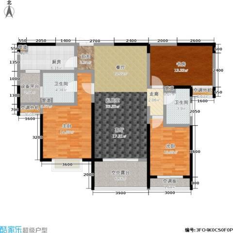 湖滨花园3室0厅2卫1厨122.00㎡户型图