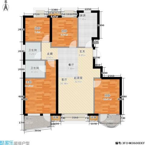 首创·澜茵山4室0厅2卫1厨123.00㎡户型图