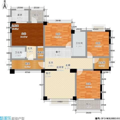 瑞都华庭3室0厅3卫1厨169.00㎡户型图