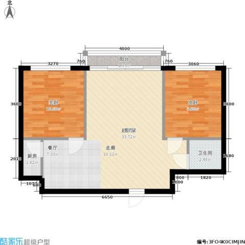 三里家园一区2室0厅1卫1厨65.00㎡户型图