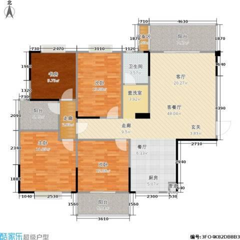鑫天山城明珠4室1厅1卫0厨167.00㎡户型图