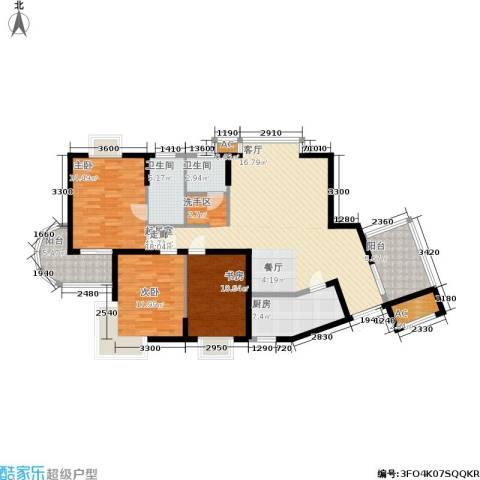 明发滨江新城3室0厅2卫1厨156.00㎡户型图